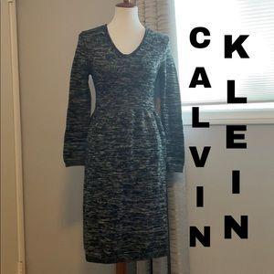 Calvin Klein wool baby doll dress